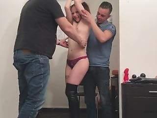 Tickling Torture With 2 Boys With Belgium Pornstar Cathy Crown - With Ca