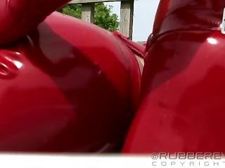 Red Latex Catsuit Fuck Ii