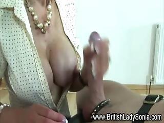 Bondage Cock British Handjob