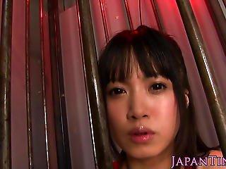 Tiny Japanese Girl Gets Bukkake Facial