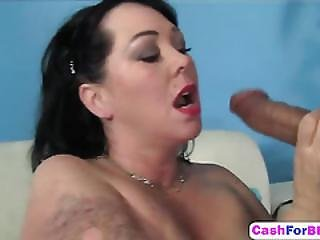 Mature Bbw In Black Corset Love Sex On The Couch.