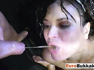 Group Pissing Action With Two Horny Sluts