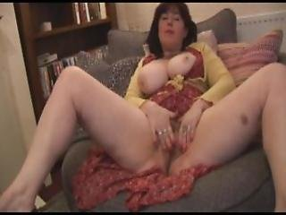 Busty Attractive Milf With Hairy Bush Posing