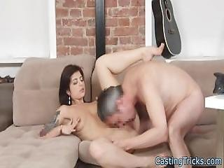 Tattooed Amateur Fucked And Jizzed On Pussy