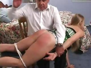 Girl Is Given A Hard Spanking For Repeated Curfew Violations