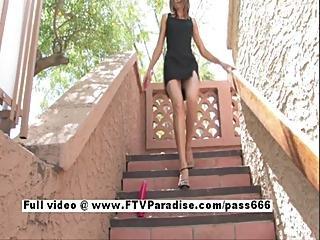Pretty Girl Brittni Redhead Cute Babe Double Toying Pussy