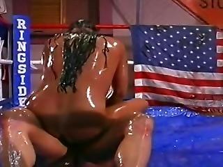 Horny Oil Wrestling Orgy