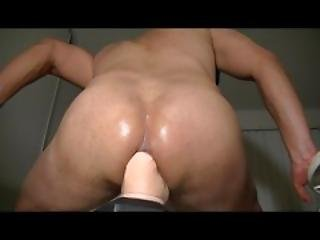 Huge Dildo To The Balls