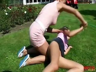 Blonde, Catfight, Cheating, Spanking, Wife, Wrestling