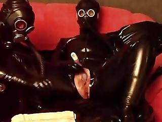 Amateur, Anal, Latex, Mask, Orgasm, Sex, Toys