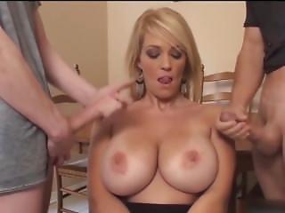 Big Tit, Blonde, Blowjob, Boys, Cumshot, Milf