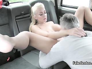 Busty Hungarian Slut Fucked In Taxi