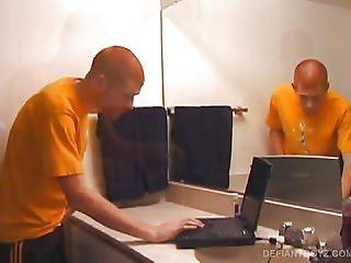 Tristian Jacking Off In Bathroom
