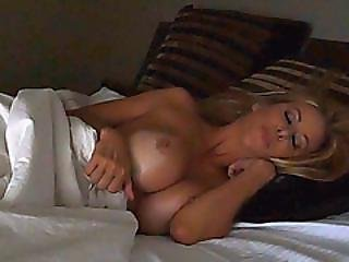 Busty Tanned Blonde Hot Strap-on Dildo Riding With Lesbian Lover