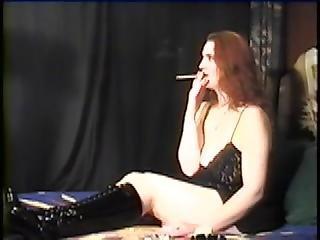Sidorah Smokes On The Bed