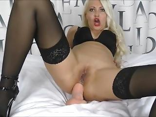 Wow Huge Dildo Fully Inside Anal Masturbation (helena Moeller)