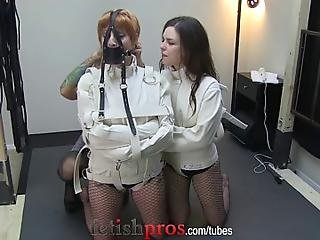 Missy Minks Has Two Hotties Restrained In Straitjackets Juliette March And Kay Kardia