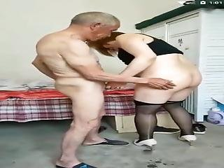 Amateur Asian Wife Pleases Grandpa And Her Husband