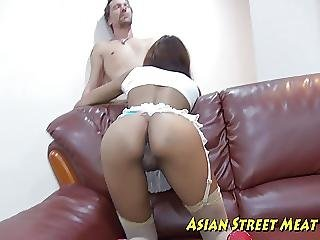 Asian Bum Babe Pickup Freak
