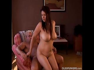 Busty Old Spunker Is A Super Hot Fuck And Loves The Taste Of Cum