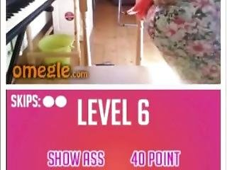 Cute Brunette With Tight Ass Plays The Omegle Game
