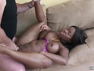 Ebony μεγάλο μαύρο κώλο
