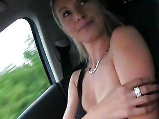 Big Fake Tits Alena Drilled By Stranger In A Public Place