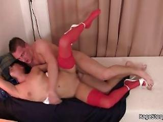 Rough Sex With Hottie In Red Lingerie