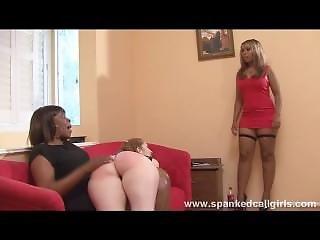 Black Girl Spanks White Girl