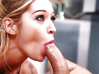 Babe, Blowjob, Deepthroat, Tattoo