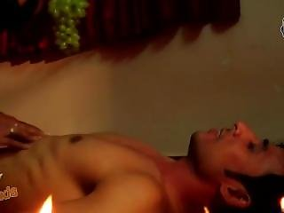 Hot Indian Guy In Underwear Making Out With Aunty