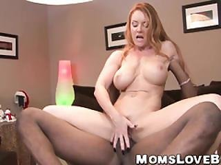 Stunning Redhead Milf With Big Boobs Enjoying Hard Sex
