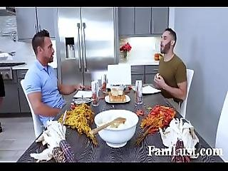 Hot Mom Phoenix Marie Fucks Father And Son For Thanksgiving - Famlust.com