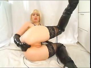 anal, fetish, fingring, handskar, latex, solo