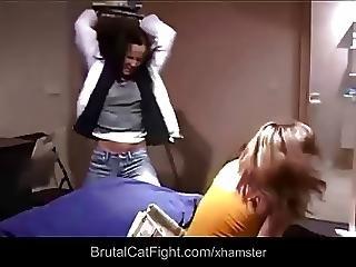 Catfight, Facial, δάχτυλο, σκληρό, τσούλα, χαστούκια