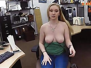 Pretty Amateur Blonde Babe Gets Fucked For A Pearl Necklace