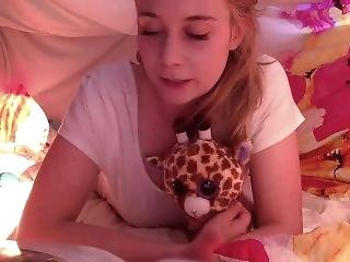 Cute Diaper Girl Playing Baby