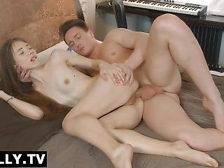 Anally.tv Before Playing Music Stefani Has Her Ass Banged