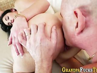 Teen Banged By Grandad