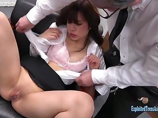 amateur, asiatique, doigtage, chaude, japonaise, office, vibrateur
