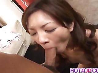 Sexy Asian Babe Asahi Miura Gets Hairy Pussy Exposed And Drilled Hard