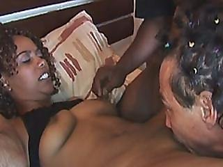 Submissive African Teen Gets Tied And Fucked In Threesome