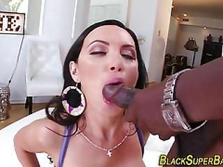 Babe Titfucks Black Cock