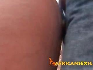 Innocent Young African Hottie Banged Hard In Doggy Style