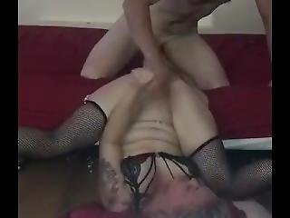 Tattood Blonde In Black Stockings Fisted  Squirts & Fucked Hard