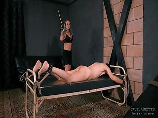 Hard Spanking From Anette - Trailer - Caning - Femdom
