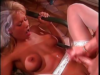 Blond Bombshell Toni Gives A Wet Deep Throat