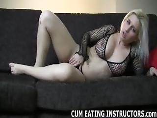 Cum For Me And Slurp It All Up Like A Good Boy Cei