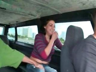 Dick Sucking Amateur Babe Riding The Sex Bus Topless