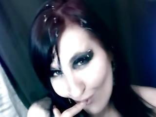 Cum On Goth Face